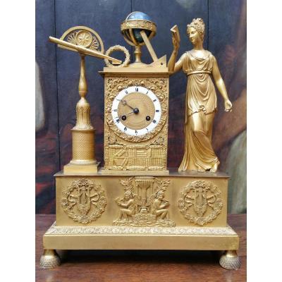 Pendule Allégorie De L'astronomie,  époque Restauration