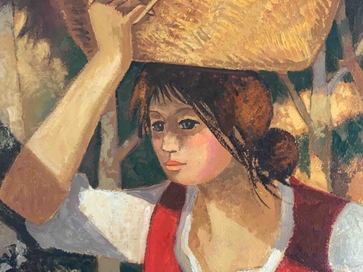 "Jean Abadie ""La porteuse de panier""-photo-3"