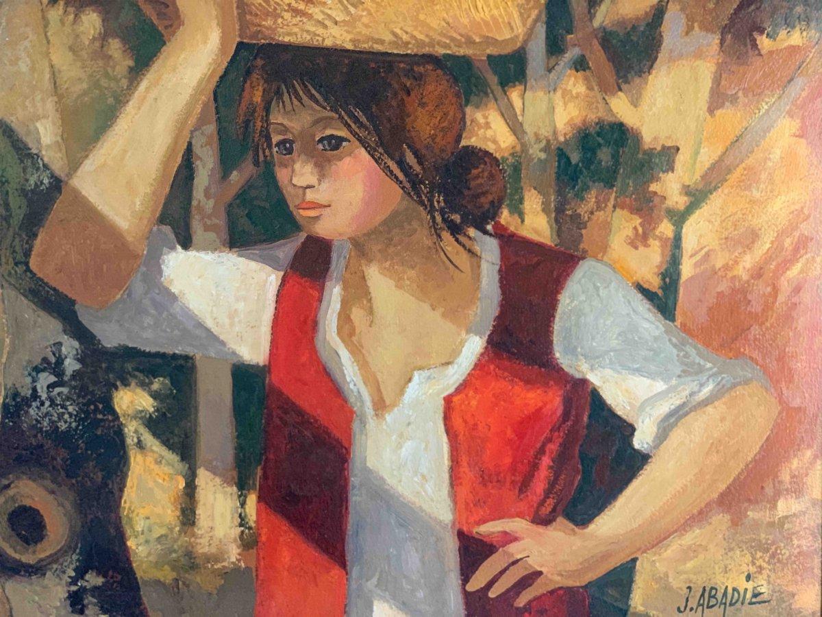 "Jean Abadie ""La porteuse de panier""-photo-1"