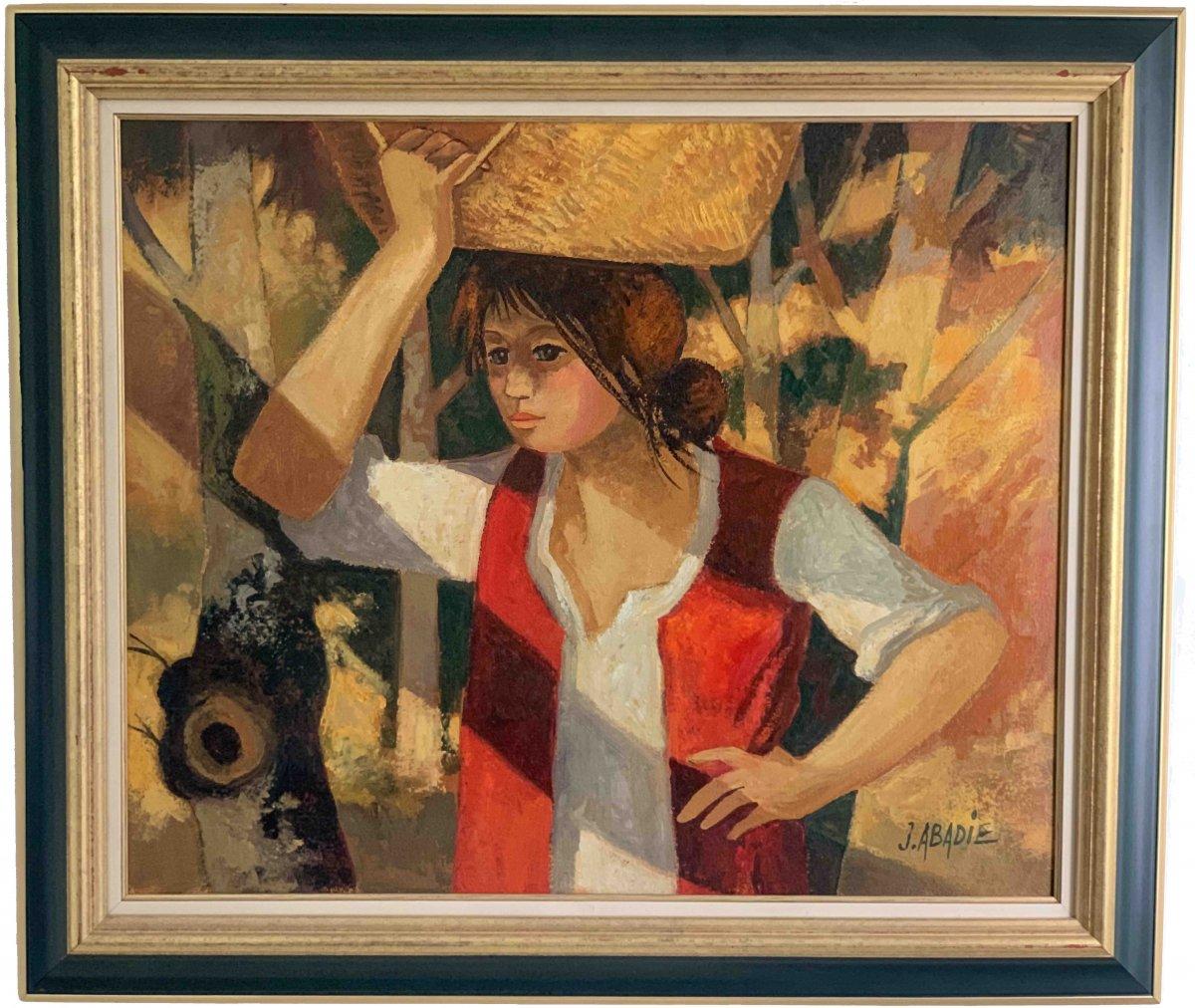 "Jean Abadie ""La porteuse de panier"""