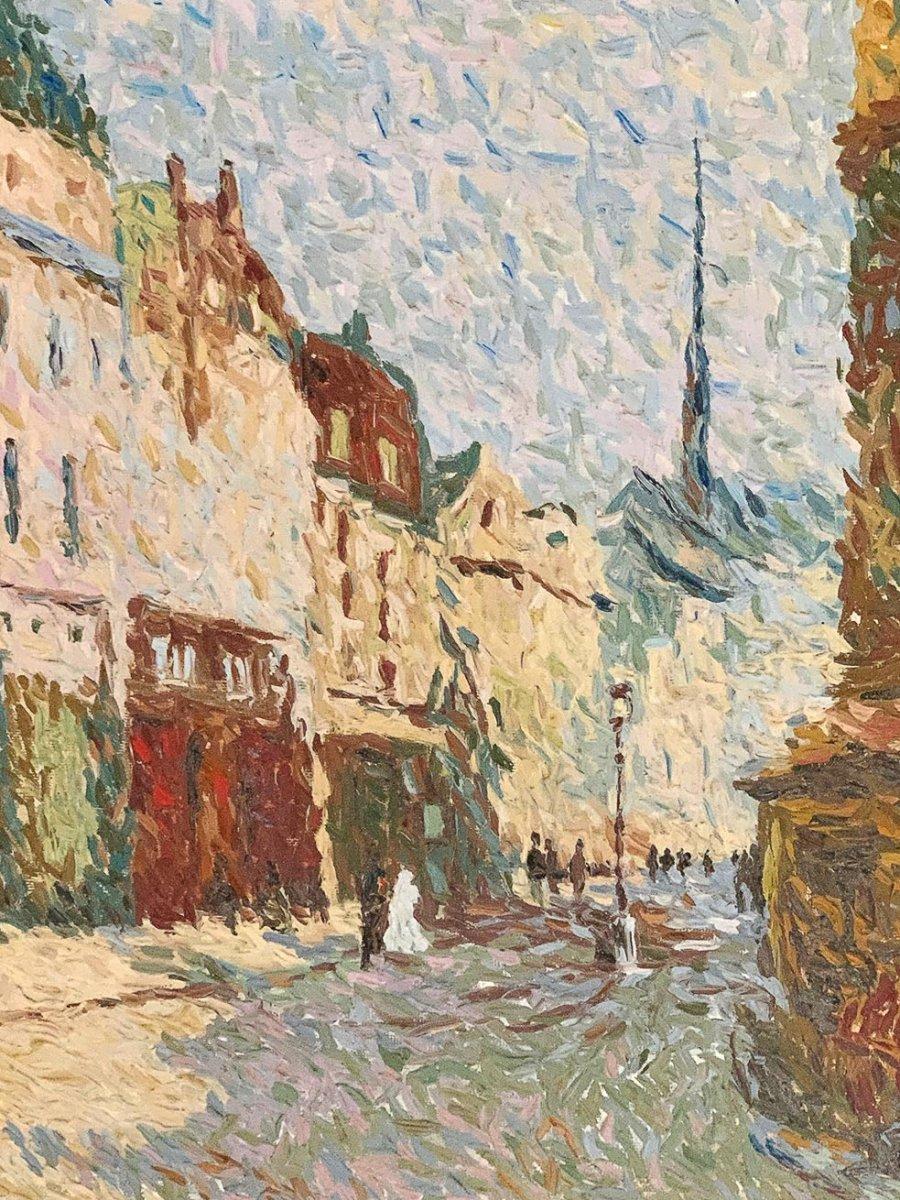 """Jean-Jacques Gauvrit """"Paris - La rue Mouffetard-photo-2"""