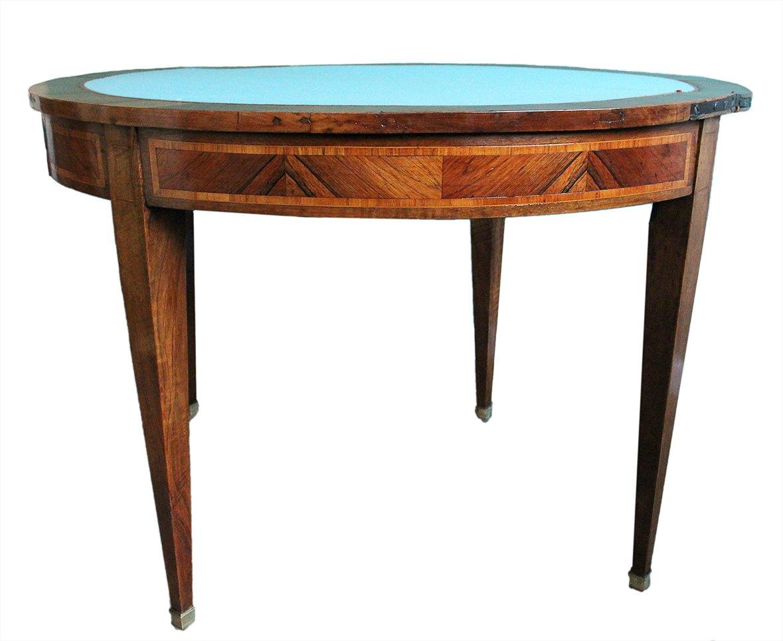 Table à Jeux En Demi-lune XVIIIème Siècle-photo-1