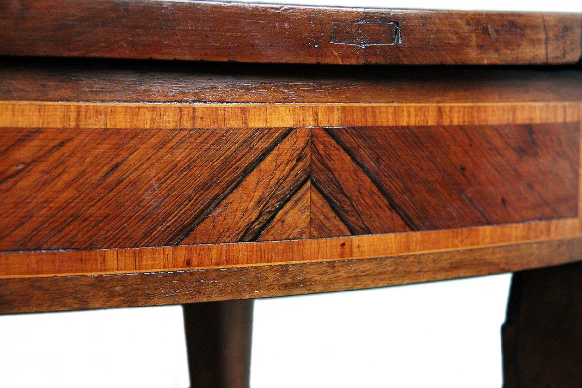 Table à Jeux En Demi-lune XVIIIème Siècle-photo-4