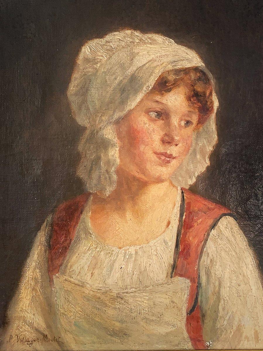"""Pauline Vallayer-Moutet """"Portrait de jeune fille-photo-1"""