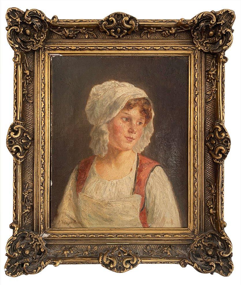 """Pauline Vallayer-Moutet """"Portrait de jeune fille"""