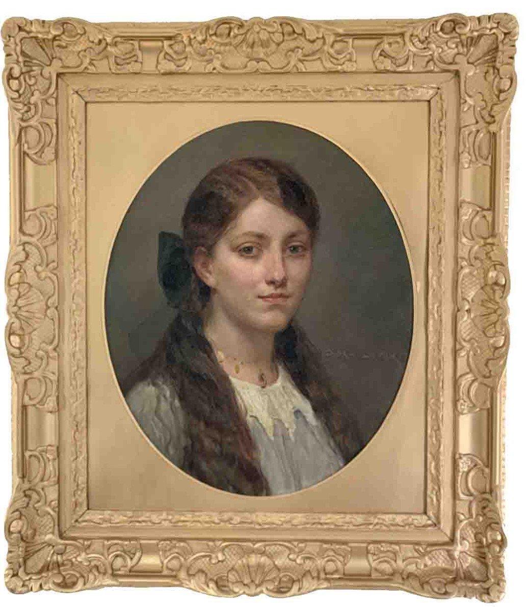 """Diogène Ulysse Maillart """"Portrait de jeune fille"""