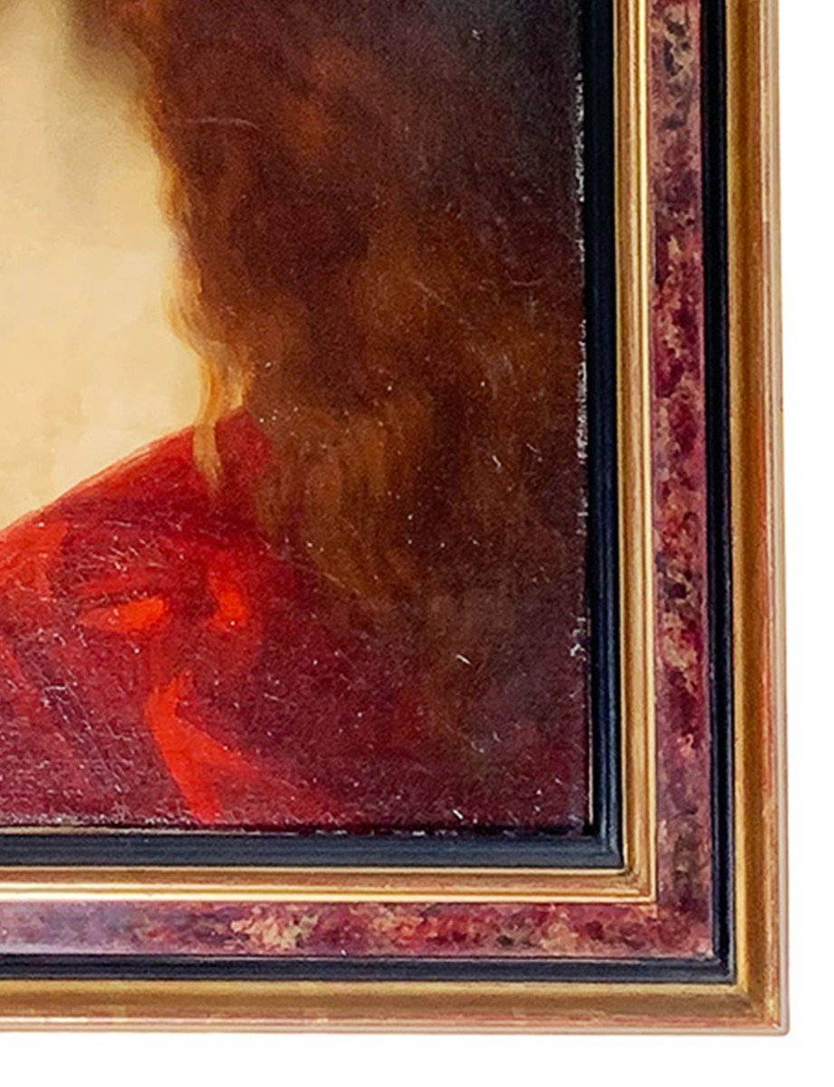 """Léontine Lemée """"buste Of A Young Lady"""" - After """"fabiola"""" From Jean-jacques Henner (1885)-photo-4"""