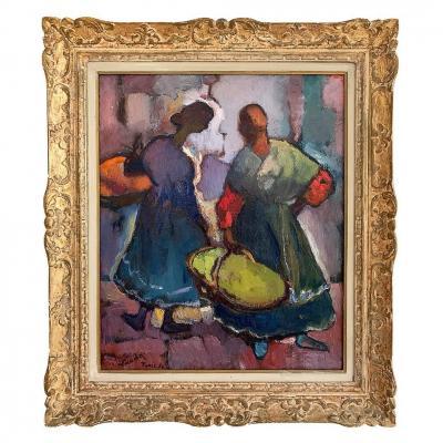 """Henri Saada """"women In Tunis'souk"""