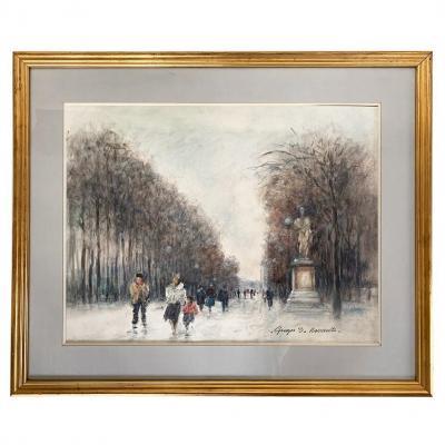 """Georges Rouault """"paris - The Tuileries Garden"""