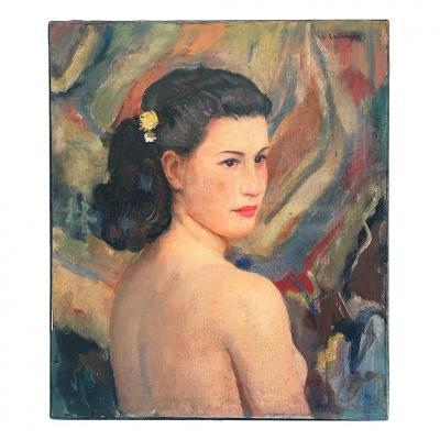"""Maurice Ehlinger """"Buste de jeune fille de dos"""