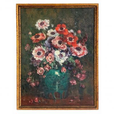 "Paul Bellanger-adhémar ""bouquet Of Flowers"