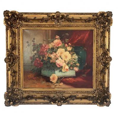"""Henri Cauchois """"basket Of Flowers"""