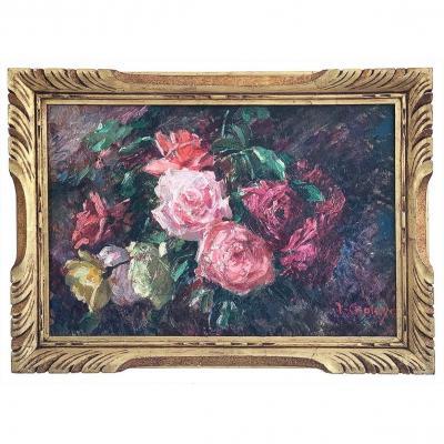 "Jean Chaleye ""bouquet Of Roses"