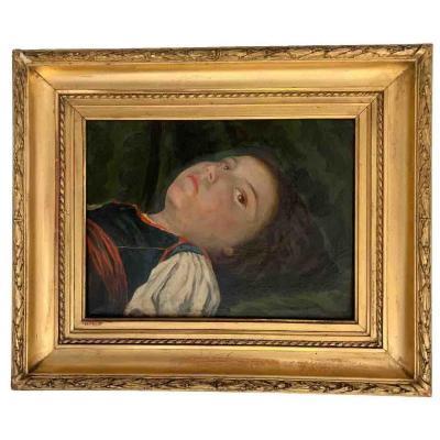 """Alexis Courajod """"Jeune fille allongée"""
