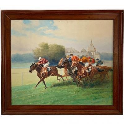 "Eugene Pechaubes ""horse Racing"