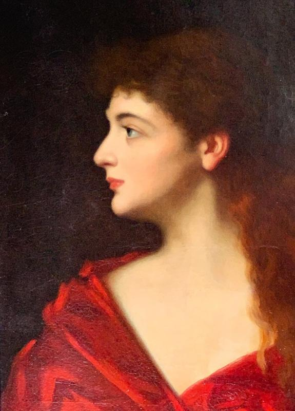 """Léontine Lemée """"buste Of A Young Lady"""" - After """"fabiola"""" From Jean-jacques Henner (1885)-photo-2"""