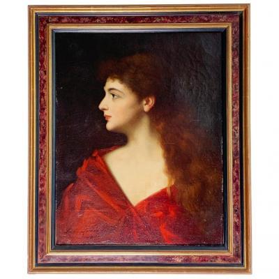 """Léontine Lemée """"Buste de jeune femme"""" - D'après """"Fabiola"""" de Jean-Jacques HENNER (1885)"""