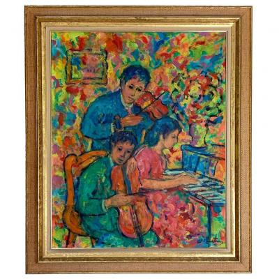 "Nathan Gutman ""children At The Piano"