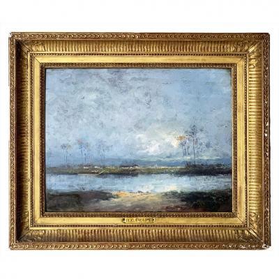 """Hippolyte Camille Delpy """"Bord de rivière"""""""