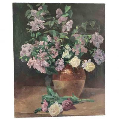"""Emile Baudoux """"Bouquet de lilas"""
