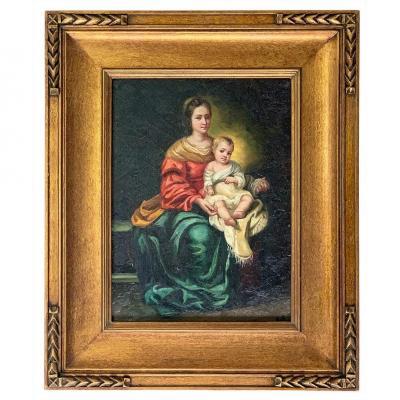 """D'après Bartolomé Esteban MURILLO (1618-1682) """"Vierge à l'enfant"""
