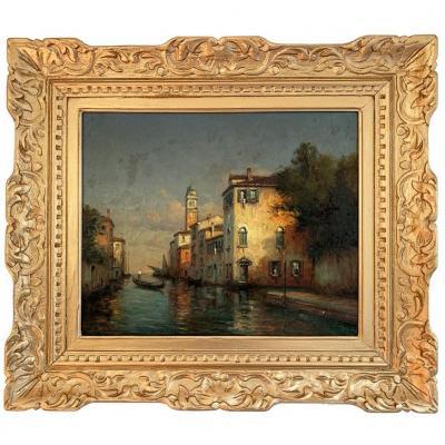 """Antoine Bouvard (1870-1955/56) """"Vue deVenise"""