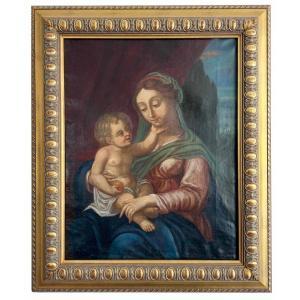 Ecole Française XVIIIème siècle  Vierge à l' Enfant
