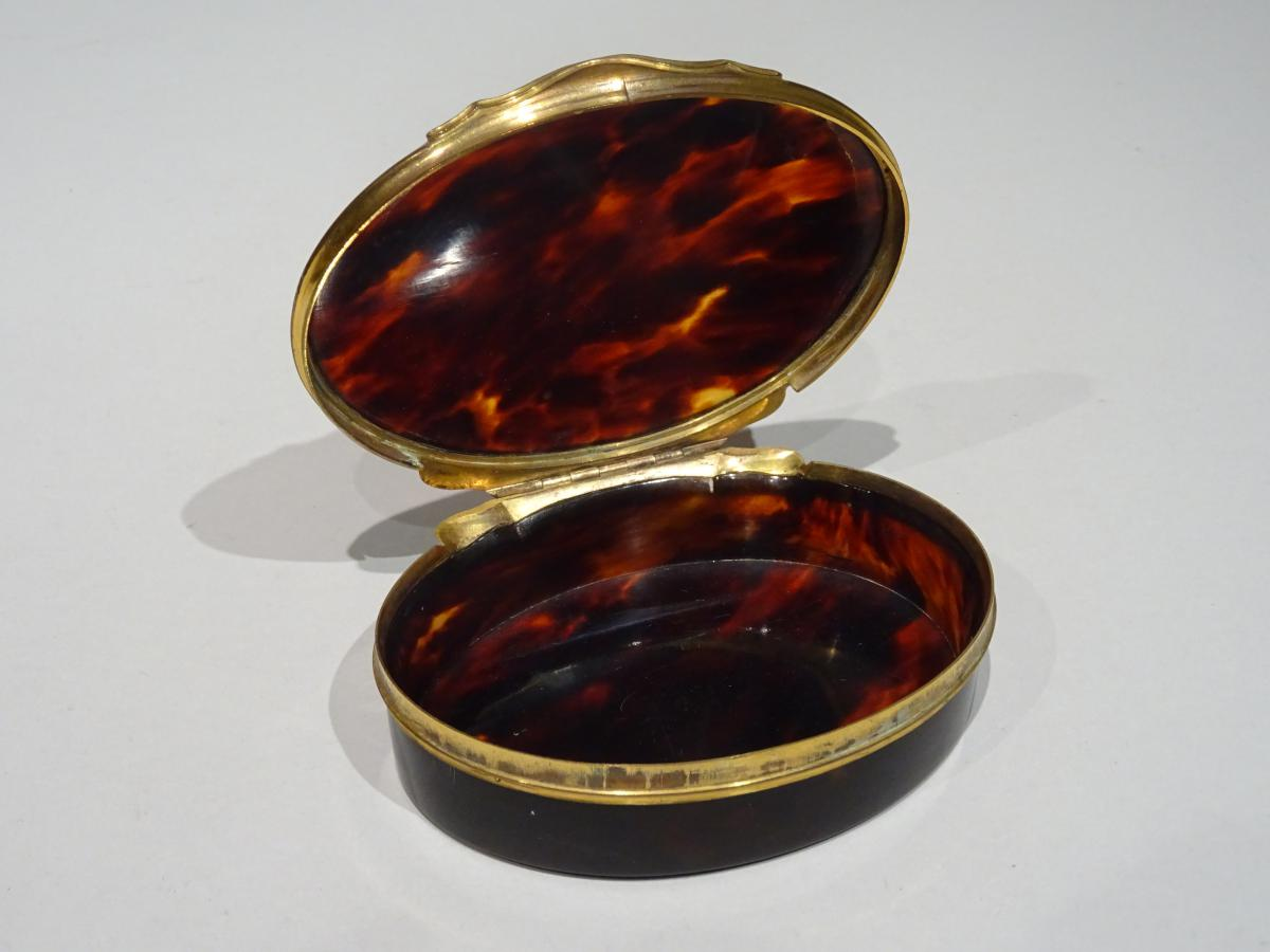 Great Snuffbox Made In Tortoishell Datable About 1740-photo-2