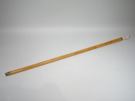 Cane With The Handle In Porcelain « J'aime Qui M'aime »-photo-2