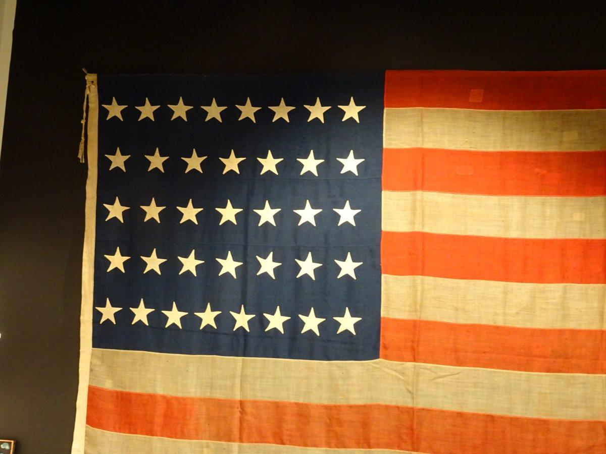 Pavillon Américain à 37 étoiles Datable Entre 1867 Et 1877-photo-2