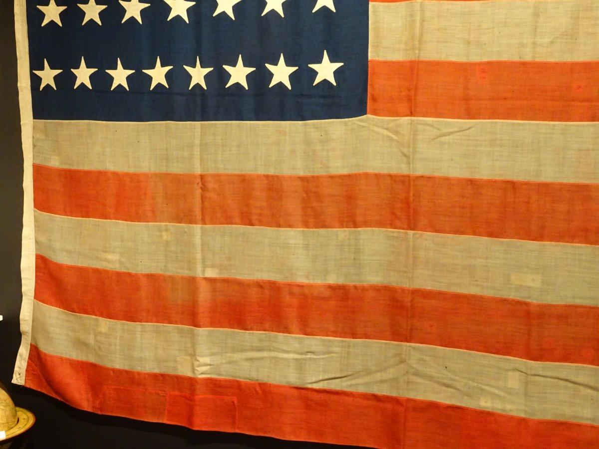 Pavillon Américain à 37 étoiles Datable Entre 1867 Et 1877-photo-3