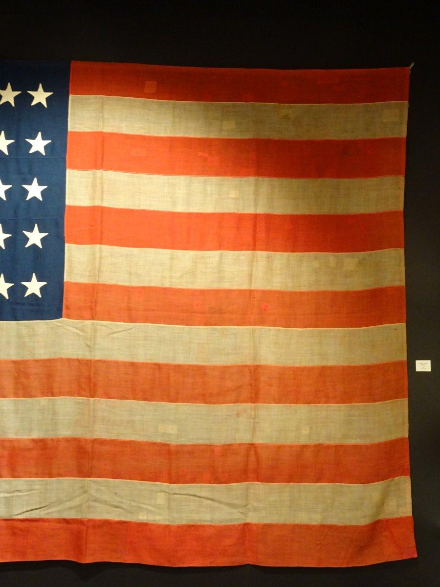 Pavillon Américain à 37 étoiles Datable Entre 1867 Et 1877-photo-4