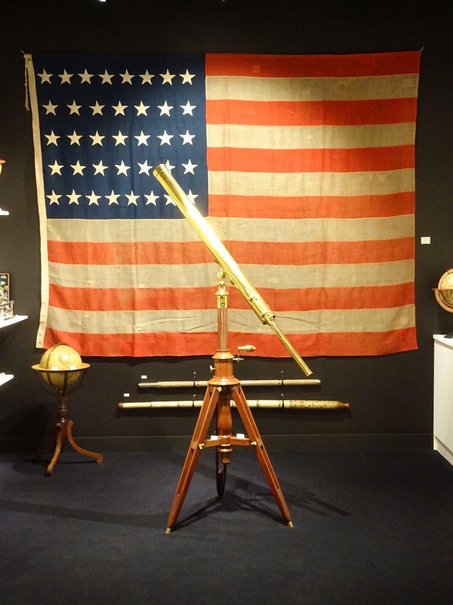 Pavillon Américain à 37 étoiles Datable Entre 1867 Et 1877-photo-1
