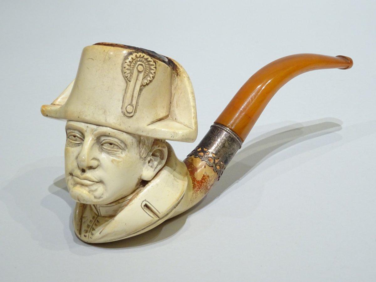 Meerschaum Pipe Representing The Emperor Napoleon