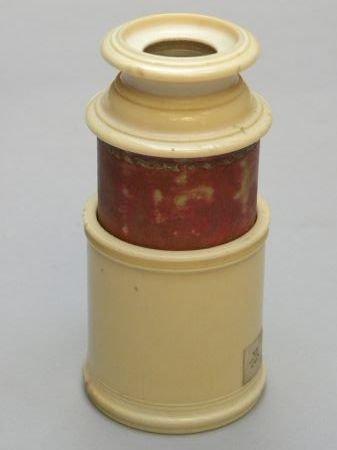 Spyglass In Ivory From Schloss In Hamburg Datable Around 1770/80.