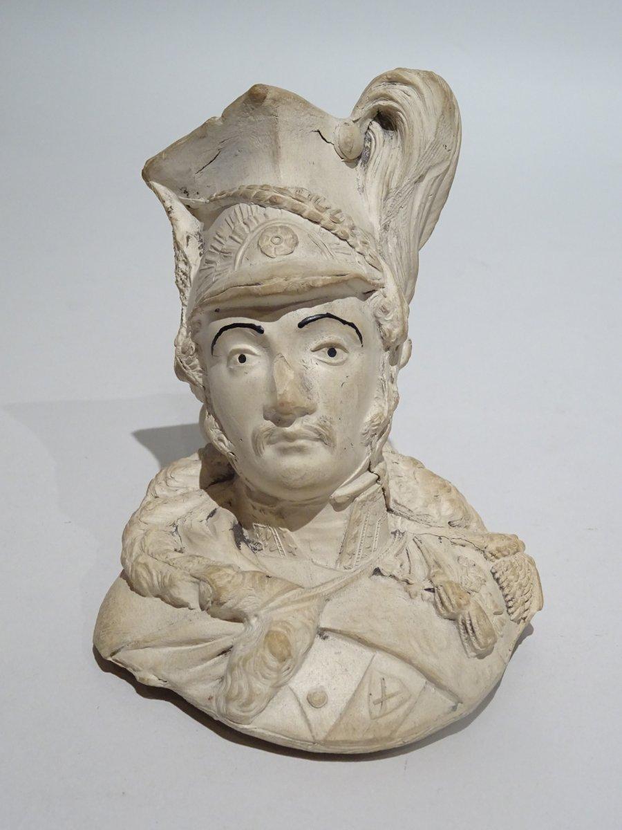 Clay Pipe Representing General Poniatowski
