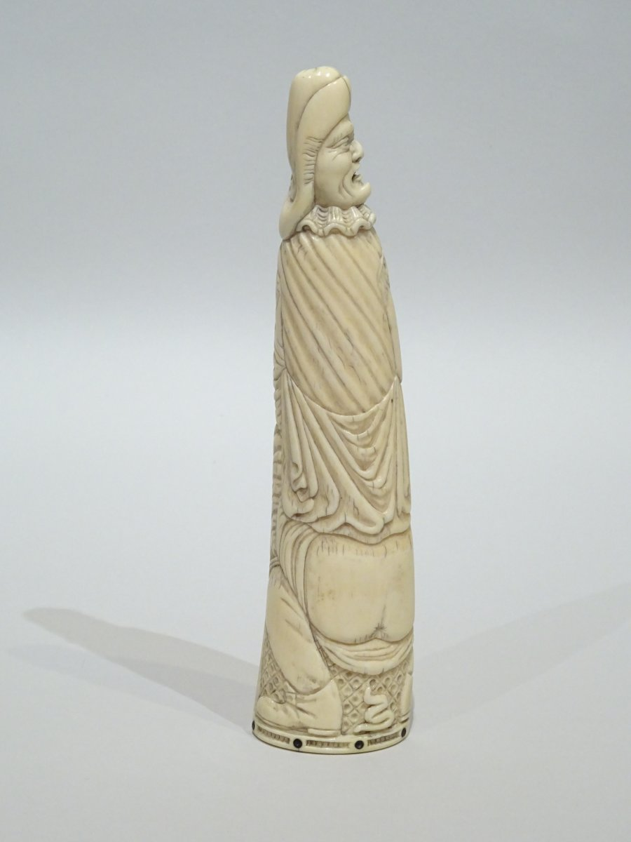 18th Century Ivory Tobacco Rasp On The Scatological Theme
