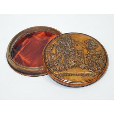 Pressed Wood Snuffbox Made Circa 1820/1830.