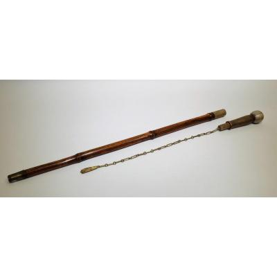 Flagellation Gadget Cane In Shagreen And Bamboo