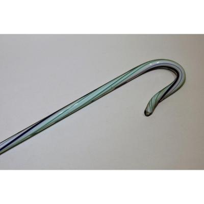 Nailsea Glass Collection Cane Datable From The Beginning Of The 20th Century