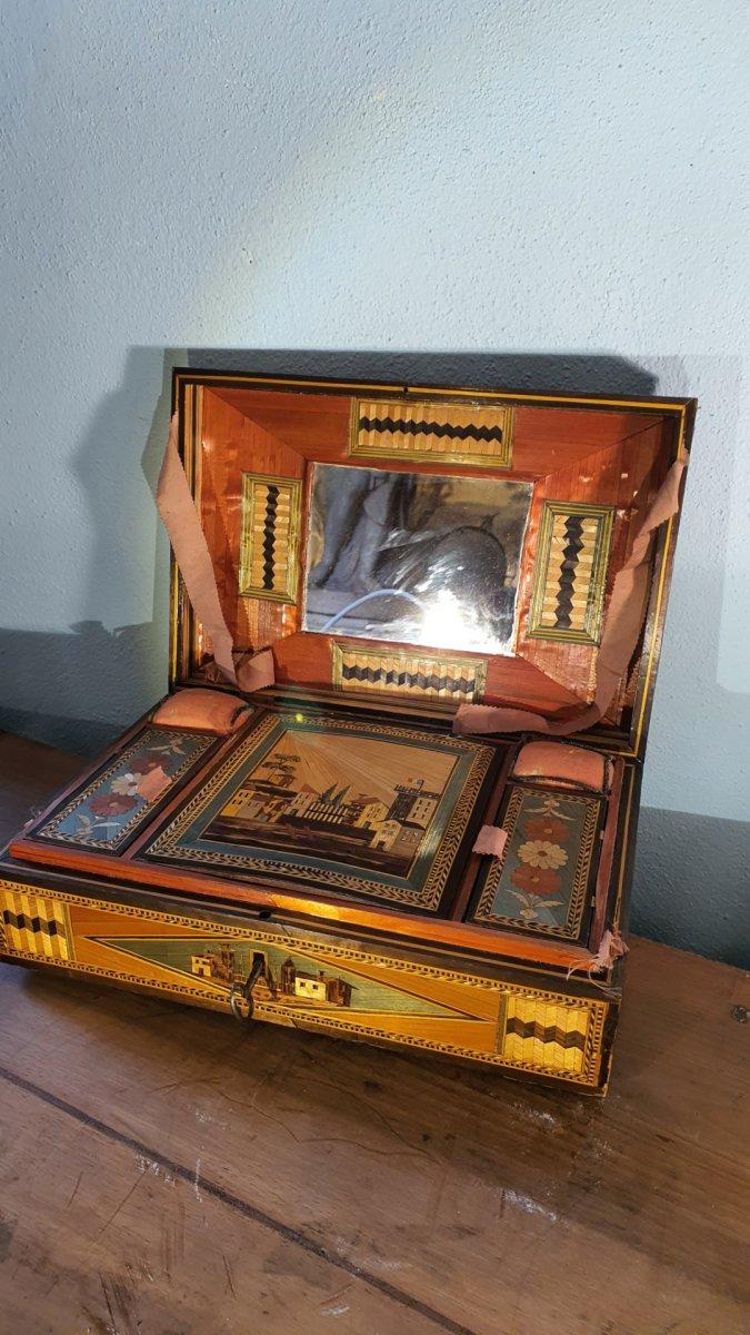 Boîte En Marqueterie De Paille -photo-2
