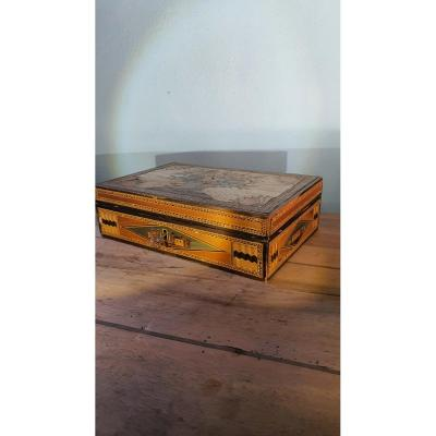 Straw Marquetry Box