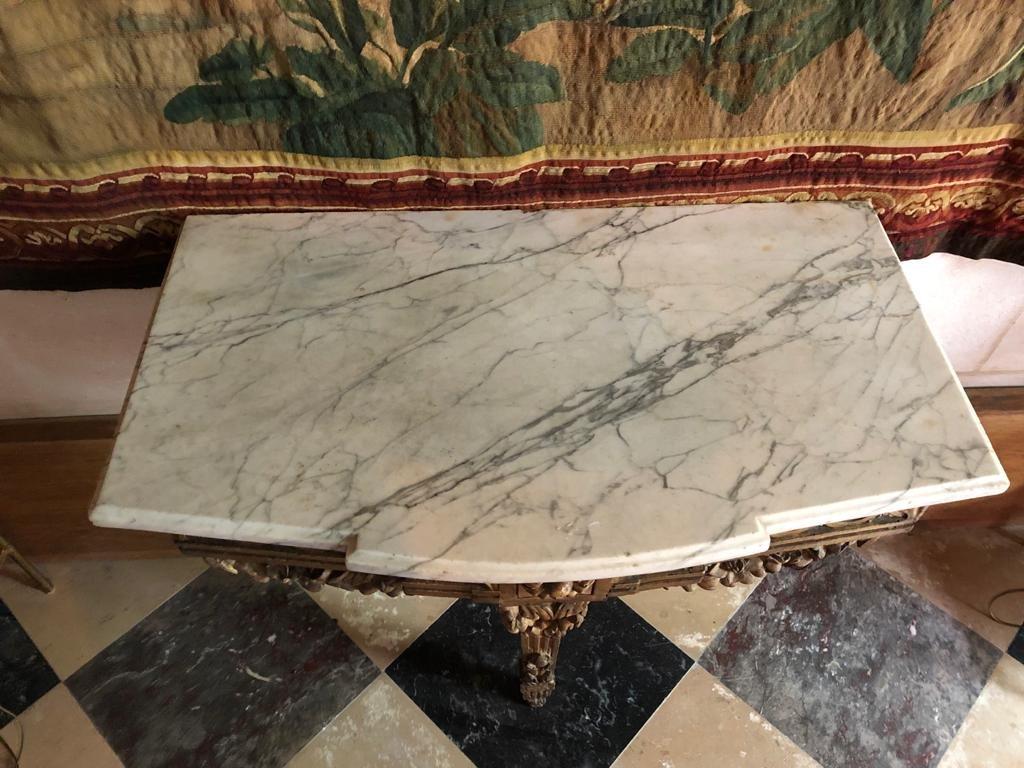 Console En Bois Doré d'époque Louis XVI.-photo-4