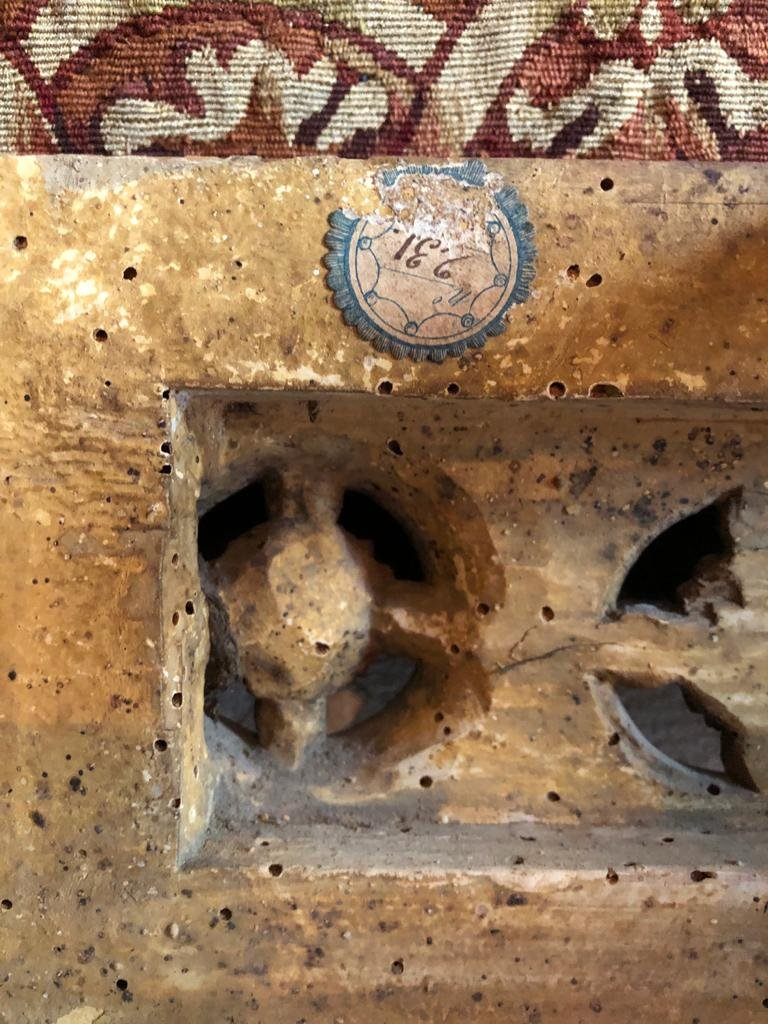 Console En Bois Doré d'époque Louis XVI.-photo-8