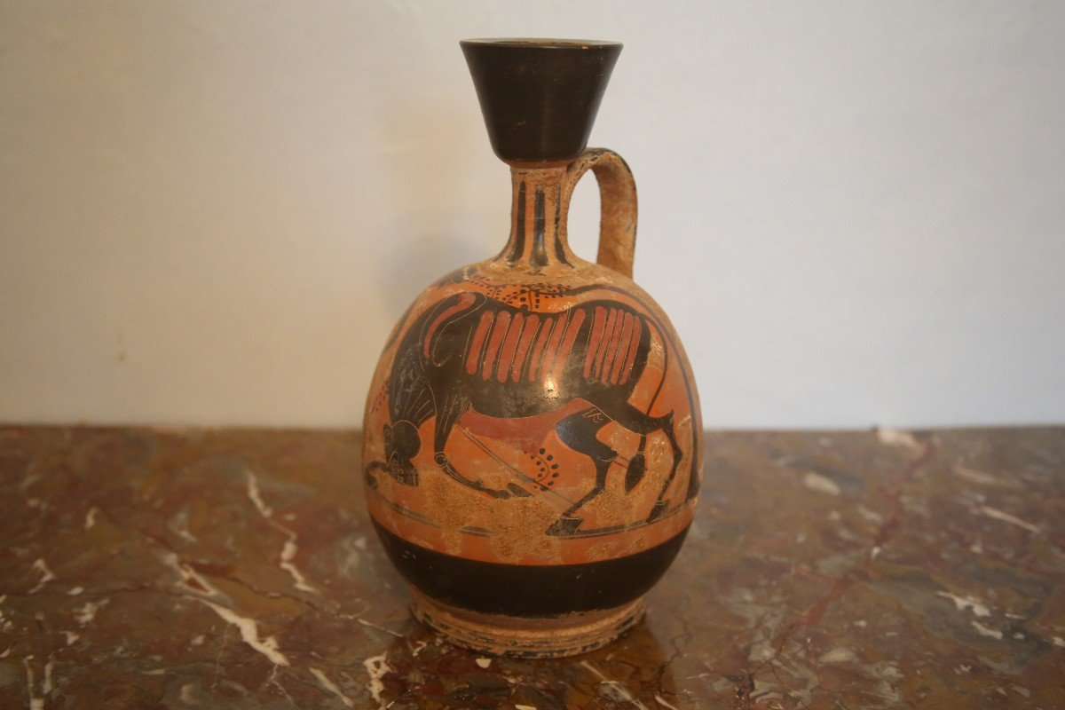 Pot-bellied Terra Cotta Lekythos