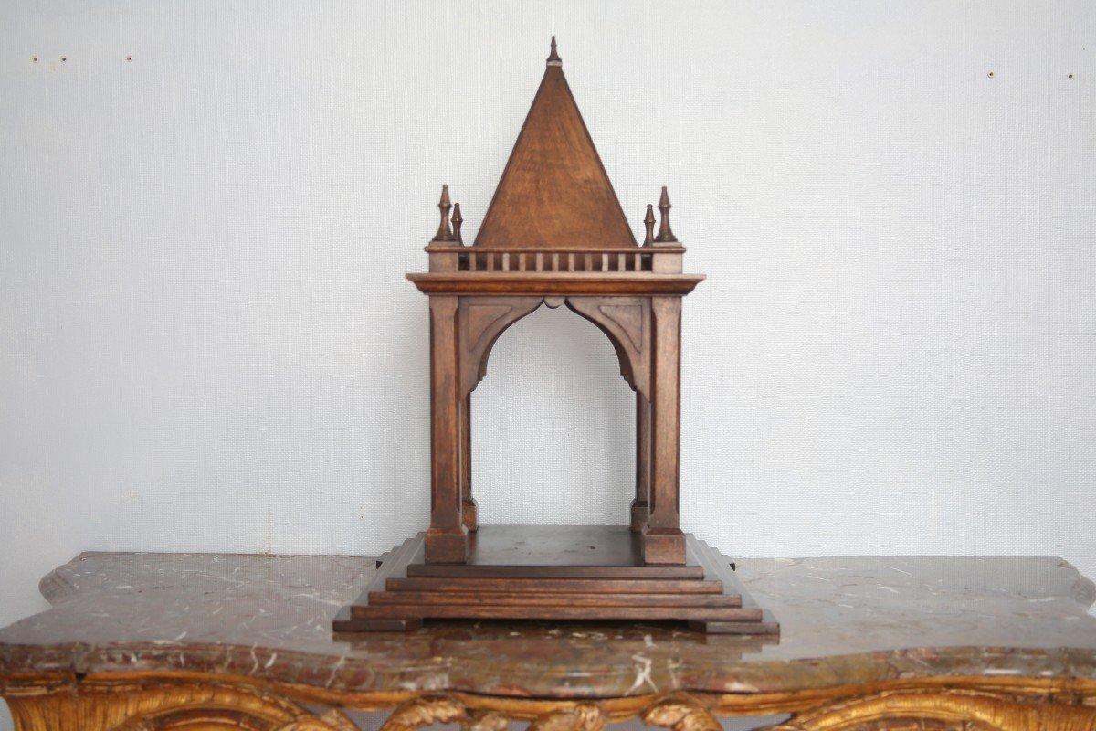 Maquette de temple, chef-d'oeuvre de compagnon signé et daté 1891.