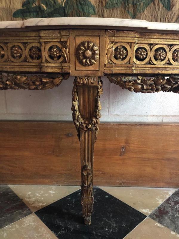Console En Bois Doré d'époque Louis XVI.-photo-2