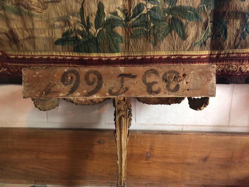Console En Bois Doré d'époque Louis XVI.-photo-3
