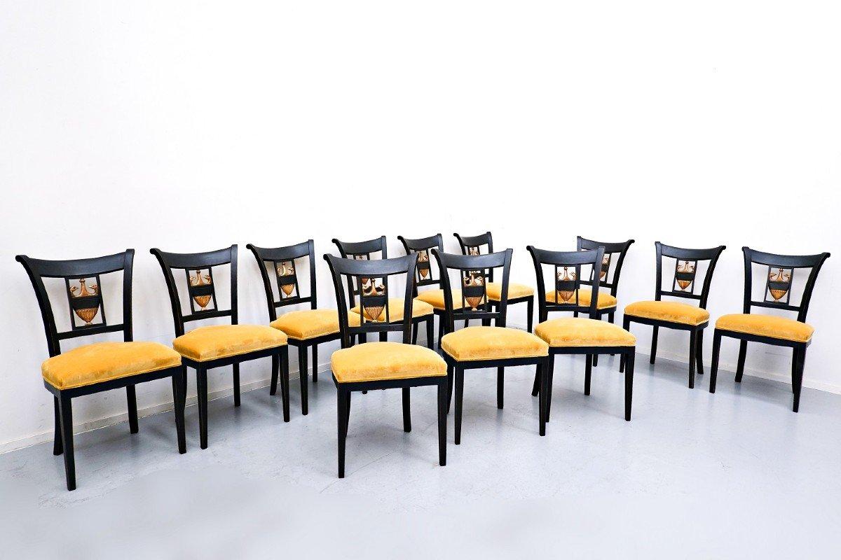 Set De 12 Chaises Style Empire