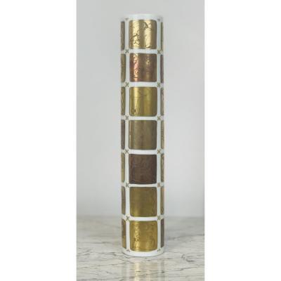 Vase En Porcelaine Décor Signes Astrologiques, Bjorn Wiinblad pour Rosenthal, 1960s